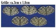 Messing - Ornamente - Metall - MO 03- Fächer