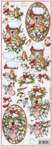 3D Bogen-Etappenbogen-Merry Christmas-Vögel im Wald-MXT.5407