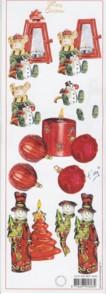 3D Bogen-Etappenbogen-Merry Christmas-Laterne/Kerze/Schneemann-MXT.5435