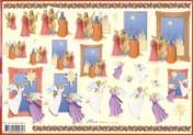 3D-Etappen-Bogen-Engel und Heilige drei Könige-Mireille X373