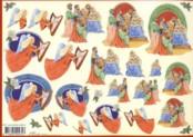 3D-Etappen-Bogen-Engel und Heilige Familie-Mireille X376