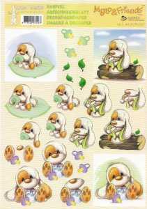 3D Etappen-Bogen -Mylo & Friends 05- mit Schnuller