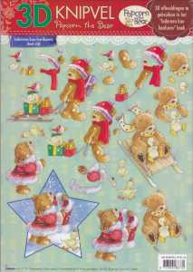 3D-Bogen- Popcorn the Bear - Weihnachten - PTB 19 -  Schlittenfahrt