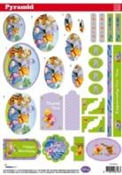 3D Pyramiden Stanzbogen-Disney-Winnie Pooh- PYR DIS24