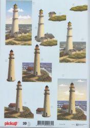 3D Etappen-Bogen-Leuchtturm-Pickup 034