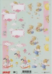 3D Etappen-Bogen -Baby-Girl-Schaukelpferd-Pickup 107