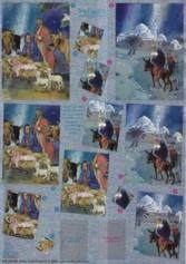 Dufex-Pyramiden-Bogen-Heilige Familie-gravierte Motive-Alu-beschichtetes Papier-746013