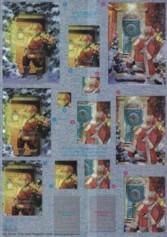Dufex-Pyramiden-Bogen-Nikolaus-gravierte Motive-Alu-beschichtetes Papier-746016