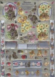 Dufex-3D-Stanzbogen-756510-Ostern-gravierte Motive-Alu-beschichtetes Papier
