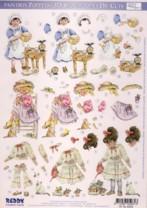3D Stanzbogen-Paintbox Poppets-83059-Backen, Blumenkranz