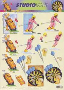 3D Etappen-Bogen-Sport- Ski- Golf- Dart- STSL 888