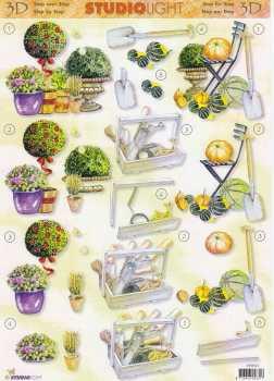 3D Etappen-Bogen-Garten / Pflanzzeit-StudioLight-STSL-312