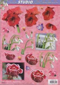 3D Etappen-Bogen-Blumen-Schneeglöckchen-gefrostete Rose- STSL 1185