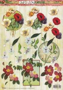 3D Etappen-Bogen-STSL 1199-Blumen