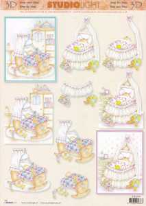 3D Etappen-Bogen - Baby -Wiege-Babyzimmer- STSL 540