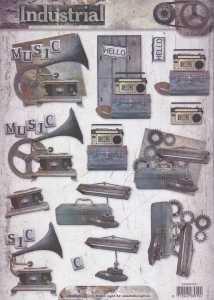 3D-Etappen-Bogen-Herrenmotive-Industrial-nostalgische Motive-STSL-1317