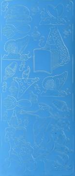 Zier-Sticker-Bogen-Süsse Baby-Motive 3-blau-3022bl