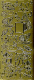 Zier-Sticker-Bogen-Süsse Baby-Motive 3-gold-3022g