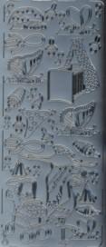 Zier-Sticker-Bogen-Süsse Baby-Motive 3-silber-3022s
