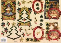3D Bogen-geprägt-nostalgische Engel-gold verziert-TBZ.572459