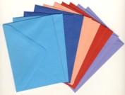 10 Brief-Umschläge/Kuverts-U-007-5 Farben-für Minikarten