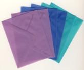 6 Brief-Umschläge/Kuverts-U-011-Transparent-3 Farben-für Minikarten