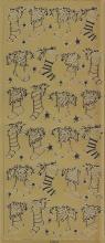 Spiegelsticker-Bogen-W 0154spg-Nikolausstiefel -gold