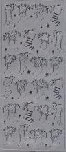 Spiegelsticker-Bogen-W 0154sps-Nikolausstiefel -silber