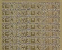 Zier-Sticker-Bogen-Frohe Weihnachten mit Schneehaube-gold-W 0459g