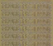 Zier-Sticker-Bogen-Frohe Festtage mit Schneehaube-gold-W 0460g