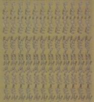 Zier-Sticker-Bogen-Frohe Weihnachten-längs-gold-W 0461g