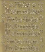 Zier-Sticker-Bogen-Frohe Weihnachten-gold-W 465g