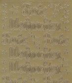 Zier-Sticker-Bogen-Frohe Weihnachten-gold-W 466g