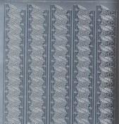 Zier-Sticker-Bogen-Ränder-Tannenbaum-silber-W999s