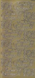 Zier-Sticker-Bogen-Frohe Festtage-im Oval-gold-W-1534g