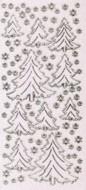 Micro-Glittersticker-Tannenbäume-Schneeflocken-transparent/gold-W-2036Gtrg