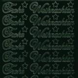 Zier-Sticker-Bogen-Frohe Weihnachten-dunkelgrün-W 451dgr