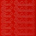 Zier-Sticker-Bogen-Frohe Weihnachten-rot-W 451r