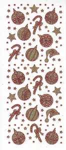 Micro-Glittersticker-4449ggr-Sterne-Glocke-Kerze-gold-rot