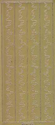 Zier-Sticker-Bogen-Ränder-Eiszapfen-gold-W 7064g