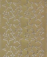 Zier-Sticker-Bogen-Sterne-gold-W 032g