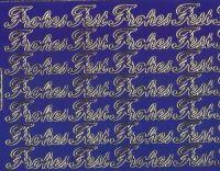 Zier-Sticker-Bogen-Frohes Fest-blau-gold-W 192blg