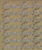 Zier-Sticker-Bogen-Frohes Fest-gold-W 192g