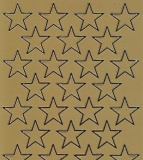 Spiegelsticker-Bogen-W 0297spg-Sterne -gold