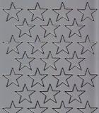 Spiegelsticker-Bogen-W 0297sps-Sterne -silber