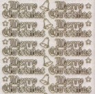 Micro-Glittersticker-W-0357Gtrg-Merry Christmas-transparent/gold
