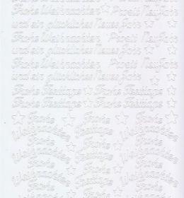 Zier-Sticker-Bogen-Frohe Weihnachten-Frohes Fest-weiß-W454w