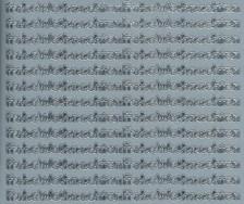 Zier-Sticker-Bogen-Frohe Weihnachten-kleine Schrift-silber-W 456s
