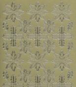 Zier-Sticker-Bogen-Schneeflocke / Eiskristalle-gold-W 979g