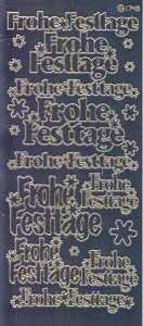 Zier-Sticker-Bogen-Spiegelfolie-Frohe Festtage-silber-W-1566sps